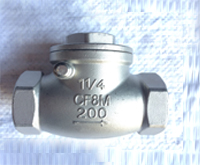 Stainless steel threaded swing check valve